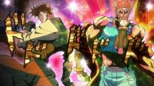 Aun con todos estos colores y brillitos JoJo y Caesar siguen siendo unos machotes