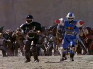El Phantom Ranger y el Centurion Azul, los dos aliados en Turbo