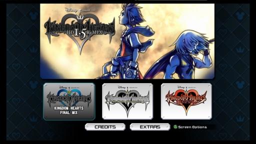 La pantalla de selección con los 3 juegos