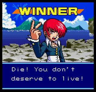 Iori también sale en el juego por si andaban con la duda.