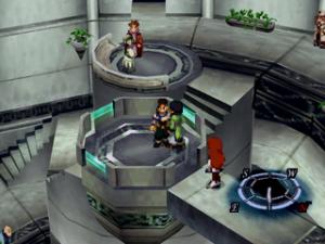 Personajes 2D y Escenarios 3D como todo buen RPG de PS1.