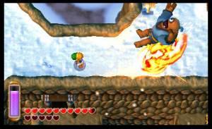 El juego hace buen uso del efecto 3D de la consola.