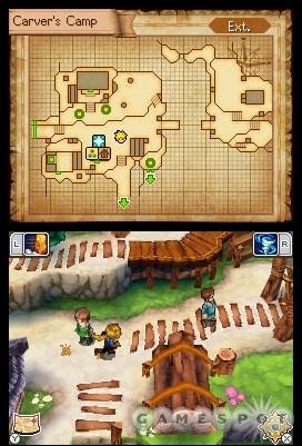 Como en casi todos los RPG del NDS el juego muestra un mapa en una de las dos pantallas