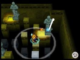 El juego sigue conservando los puzzles en los calabozos como en los dos juegos de GBA