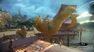 Este juego respeta las raices de la serie(?), muestra de eso está en la aparición de Chocobos