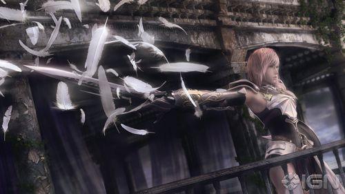 Miren, es Lightning... que no hace nada en el juego al menos que compres el DLC