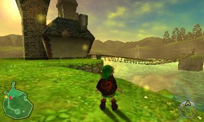 Disfrutemos la gran belleza del Lago Hylia en los gloriosos 240p de resolución que ofrece el 3DS