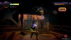 Algunas escenas son de plataformas donde debes saber cuando saltar y usar tu cadena